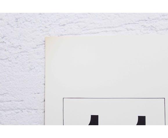 Lithographie de Armin Hofmann 1976