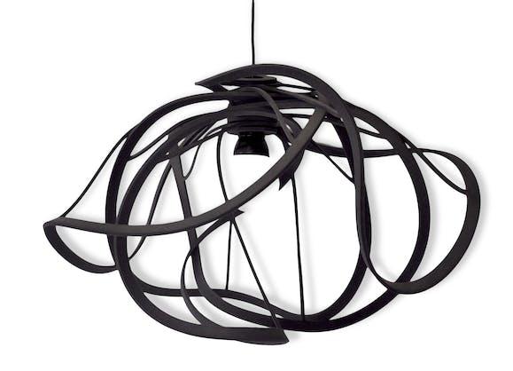 suspension ligne roset bloom plastique noir design 150223. Black Bedroom Furniture Sets. Home Design Ideas