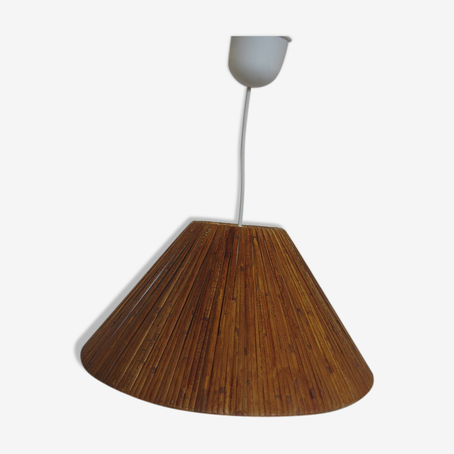 Wicker hanging lamp
