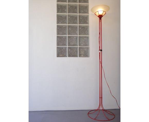 Lampadaire design italie 180cm tubulaire rouge