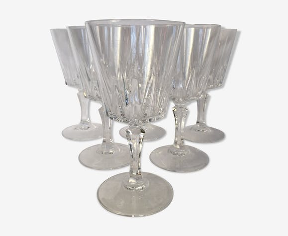 Set of 6 glasses cut crystal