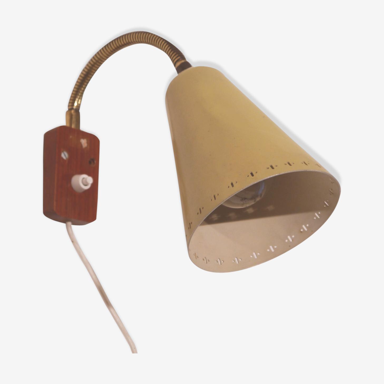 Applique teck et métal Danemark 1970