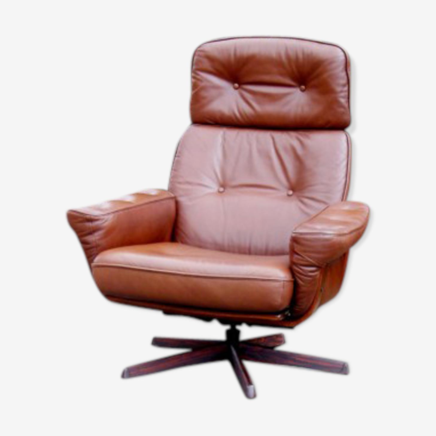 Fauteuil relax en cuir brun G Möbel cuir marron design EBczxWn