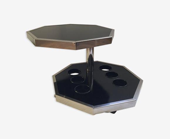 Table basse octogonale pivotante année 1970