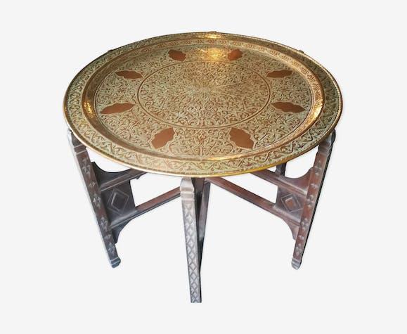 Table antique en cuivre