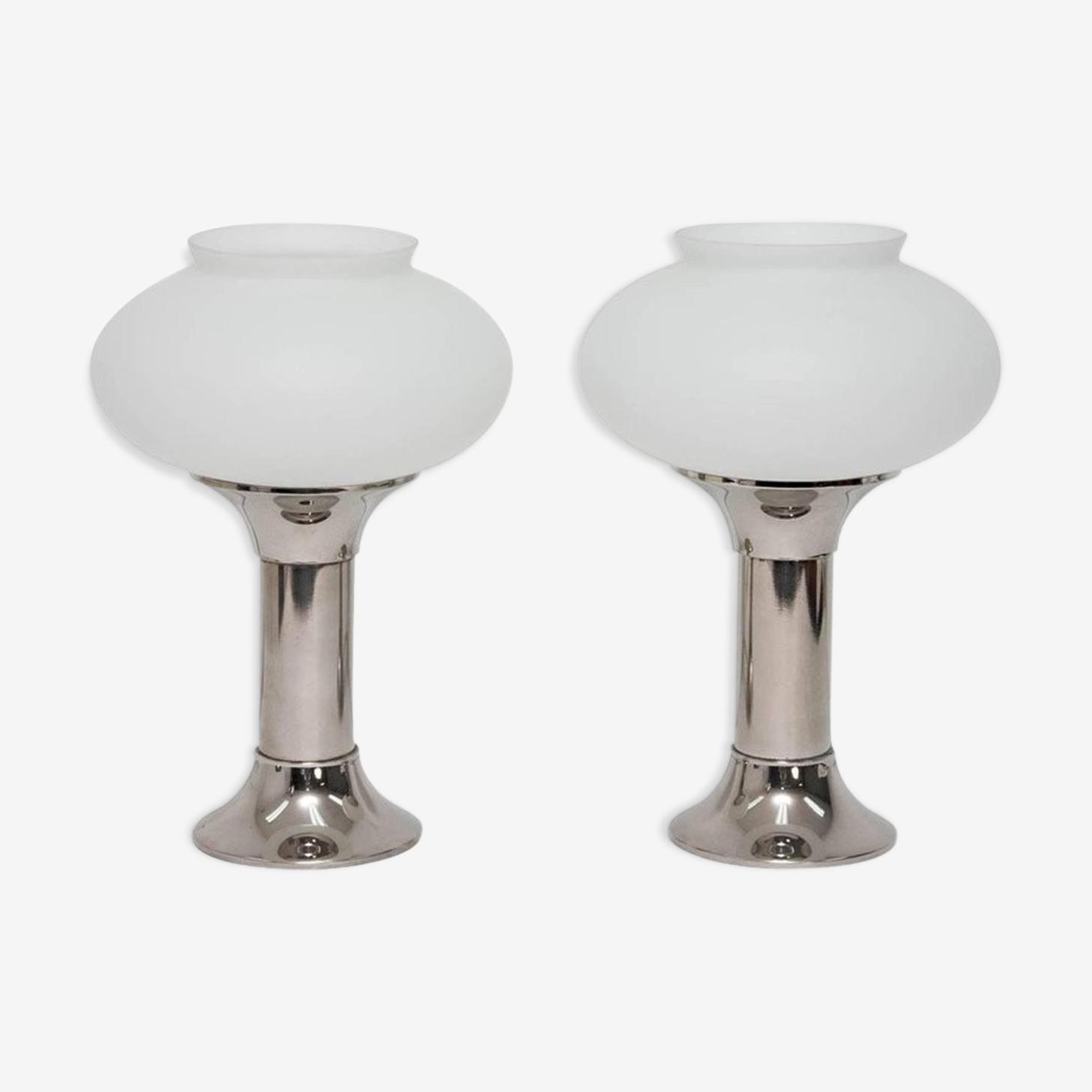 Paire de lampes de table VEB Narva années 1960