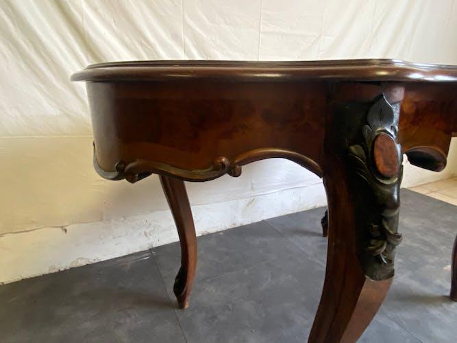 Table de milieu Napoleon lll, XIX acajou
