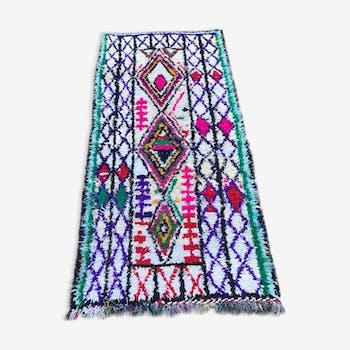 Tapis boucherouite 215x100 cm