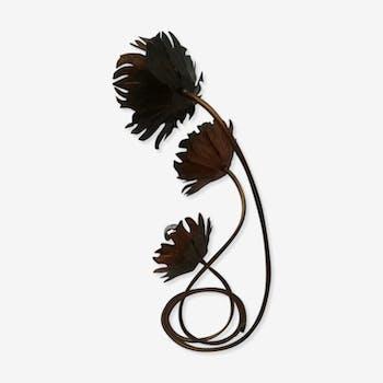 Flowers in copper lamp