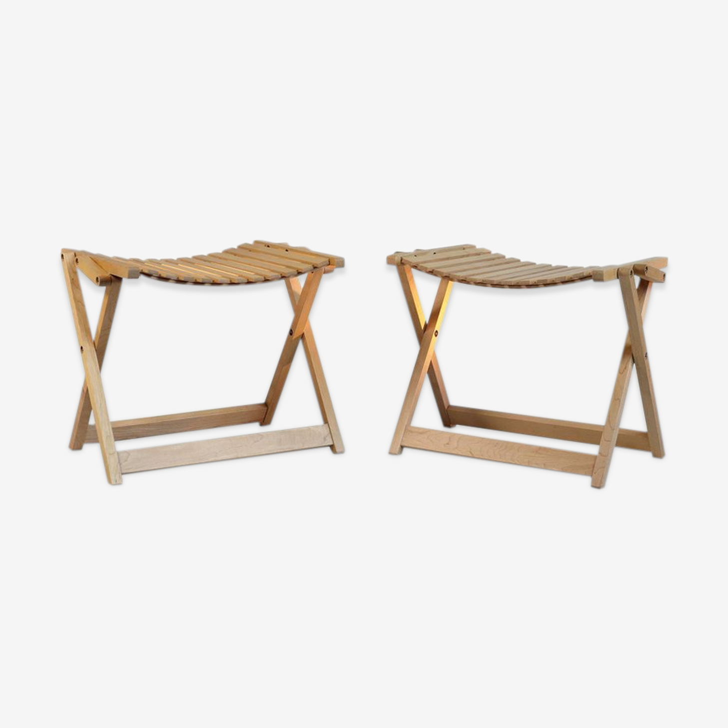 Pair of Jean-Claude blue Maple stool