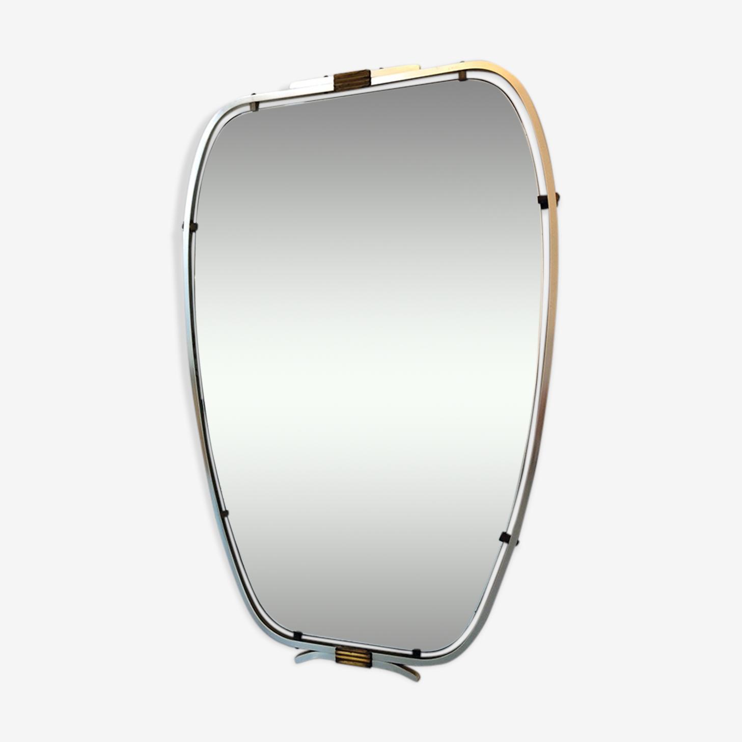 Miroir asymétrique moderniste 1950 65x44cm