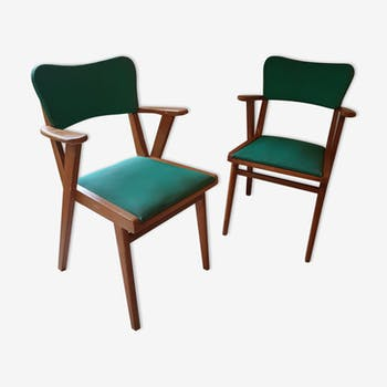 2 chairs year 60 french design