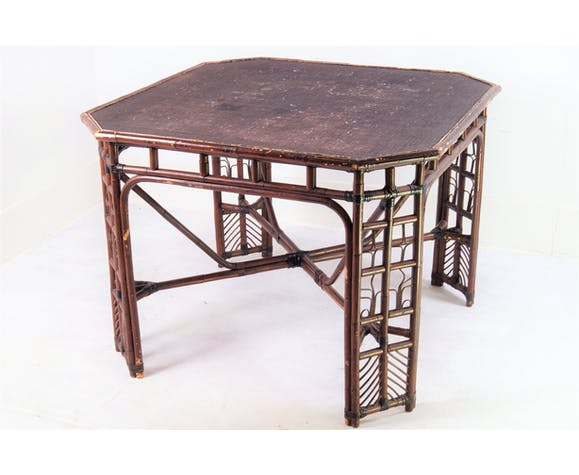 Bamboo & rattan table