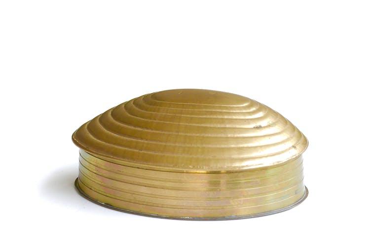Boîte coquillage en laiton, années 60