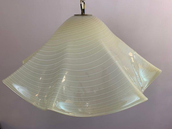Suspension Mouchoir en verre de Murano de l'Autrichien Kalmar Franken KG des années 1970