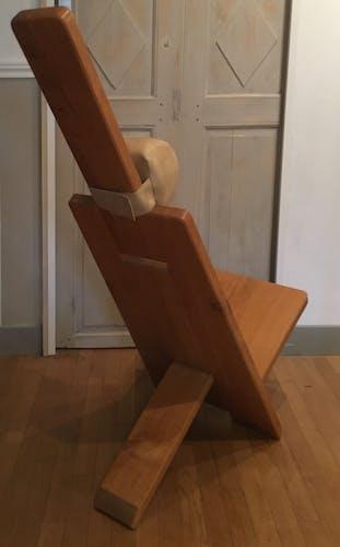 Chaise design en Chêne clair par Alain Gaubert