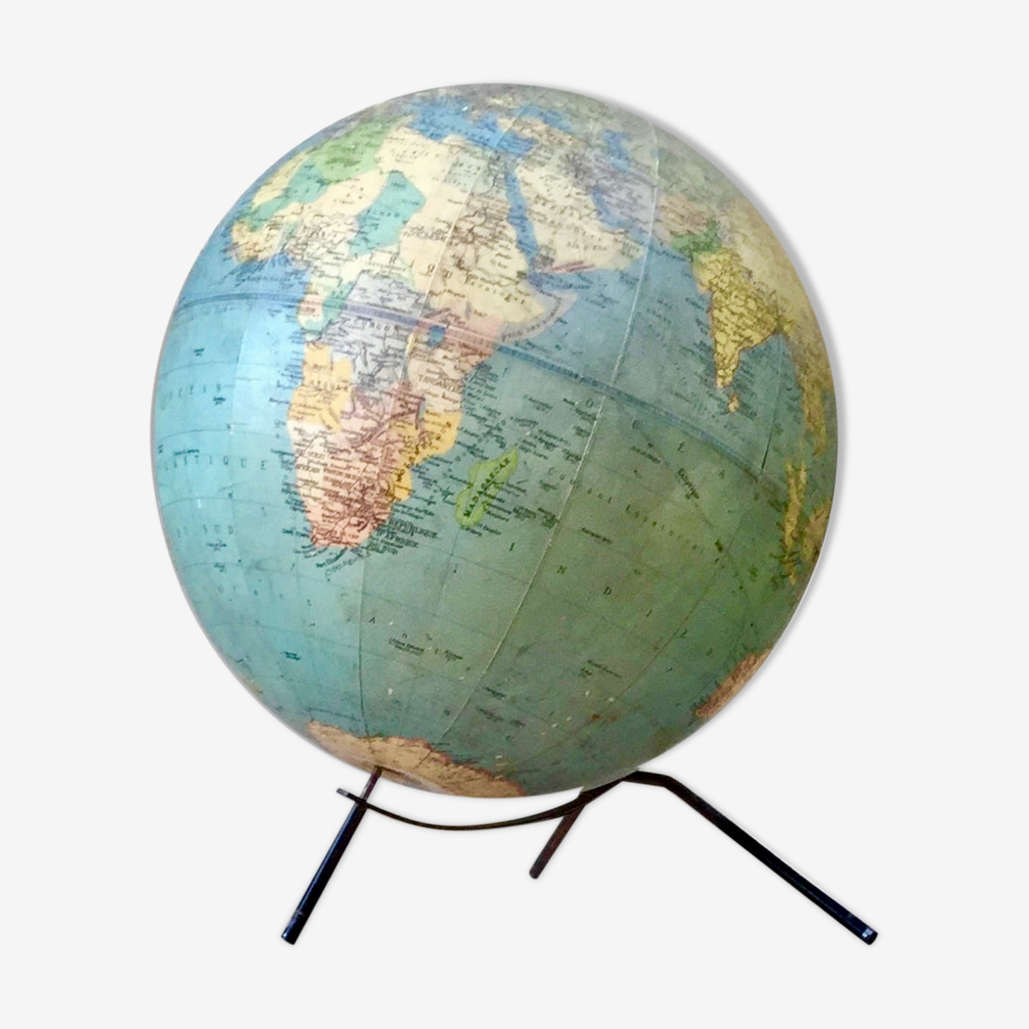 Large world map Taride base steel