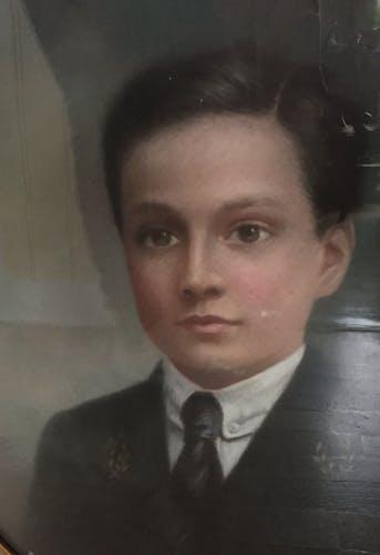 Portrait ancien de jeune homme
