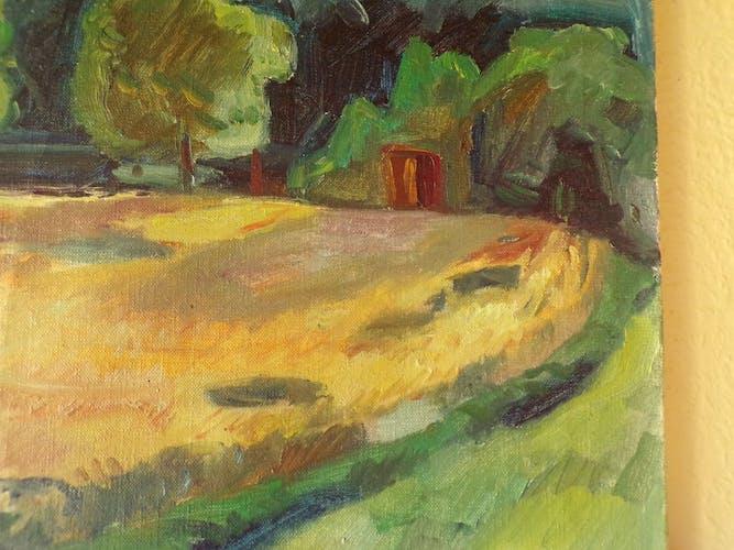 Huile sur toile  paysage