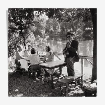 "Photography, ""Bords de Marne à Nogent"", 1959 / Tribute to Willy Ronis / NB / 15 x 15"