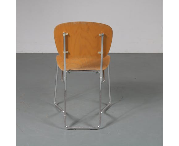 """1950s Set of """"Aluflex"""" chairs, designed by Armin Wirth, manufactured by hans Zollinger Sohre in Switzerland"""