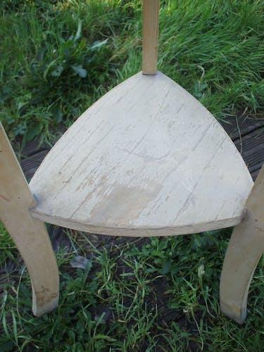 Triangular end table