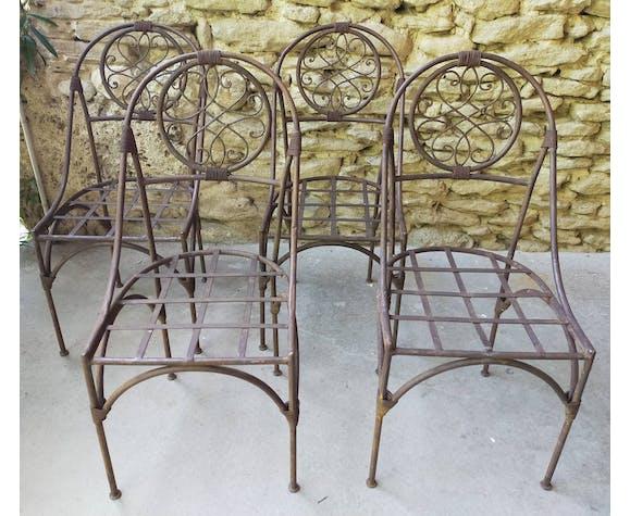 Lot de 4 chaises style marocaine