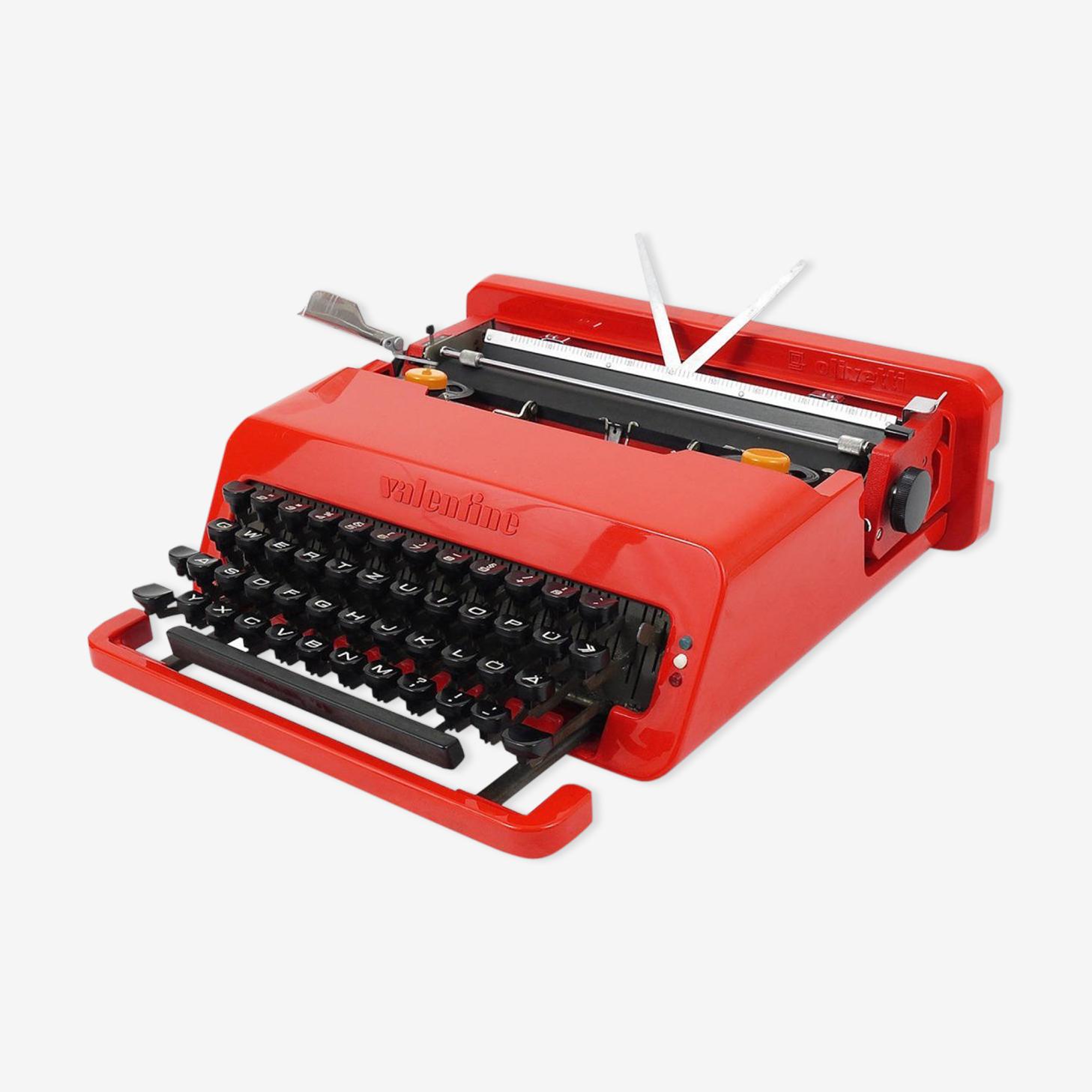 Machine à écrire Valentine Olivetti par Ettore Sottsass de 1969