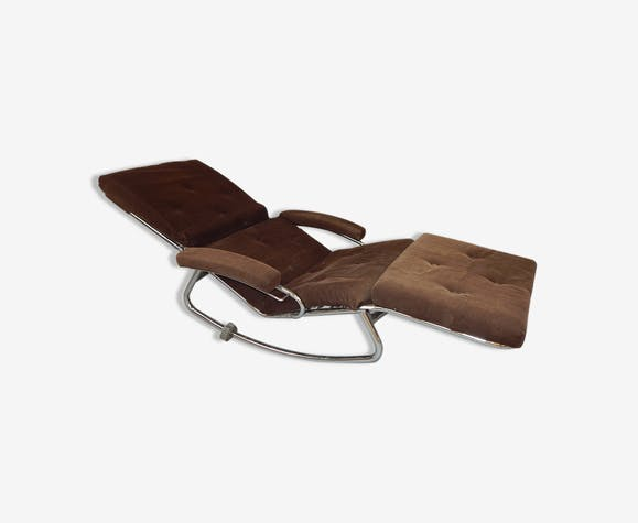 Rocking Cahair Chaise Longue Vintage Design Lama Annee 60 70 Metal