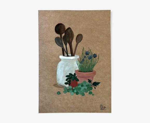 Pot à cuillères