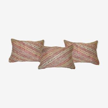 3 housses de coussins kilim faites à la main