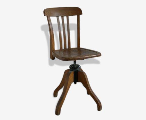 Stella Pivotante Wooden Marque De Bureau Chaise Wood HEWID29