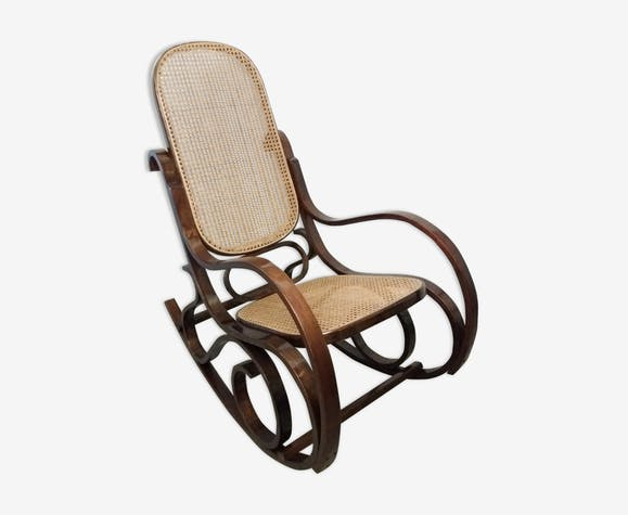 Rocking chair cannage