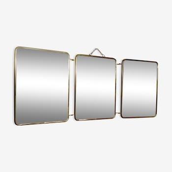 Miroirs de barbier vintage miroirs triptyque d 39 occasion for Miroir barbier