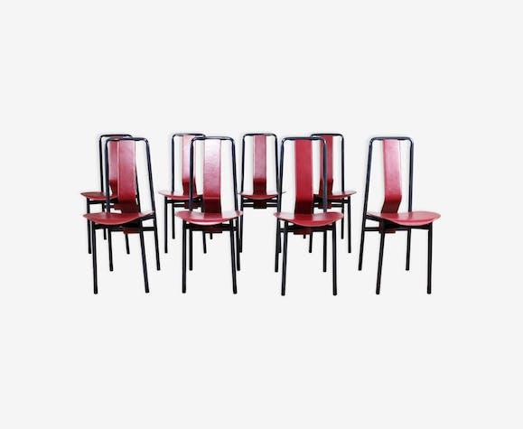 Set de 8 chaises par Achille Castiglioni 1980