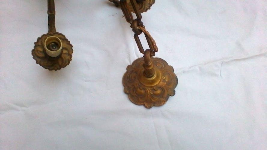 Lustre 6 branches en bronze