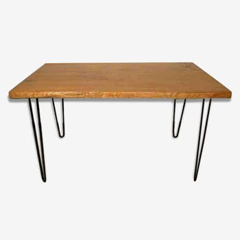 Dining - hairpin leg table.
