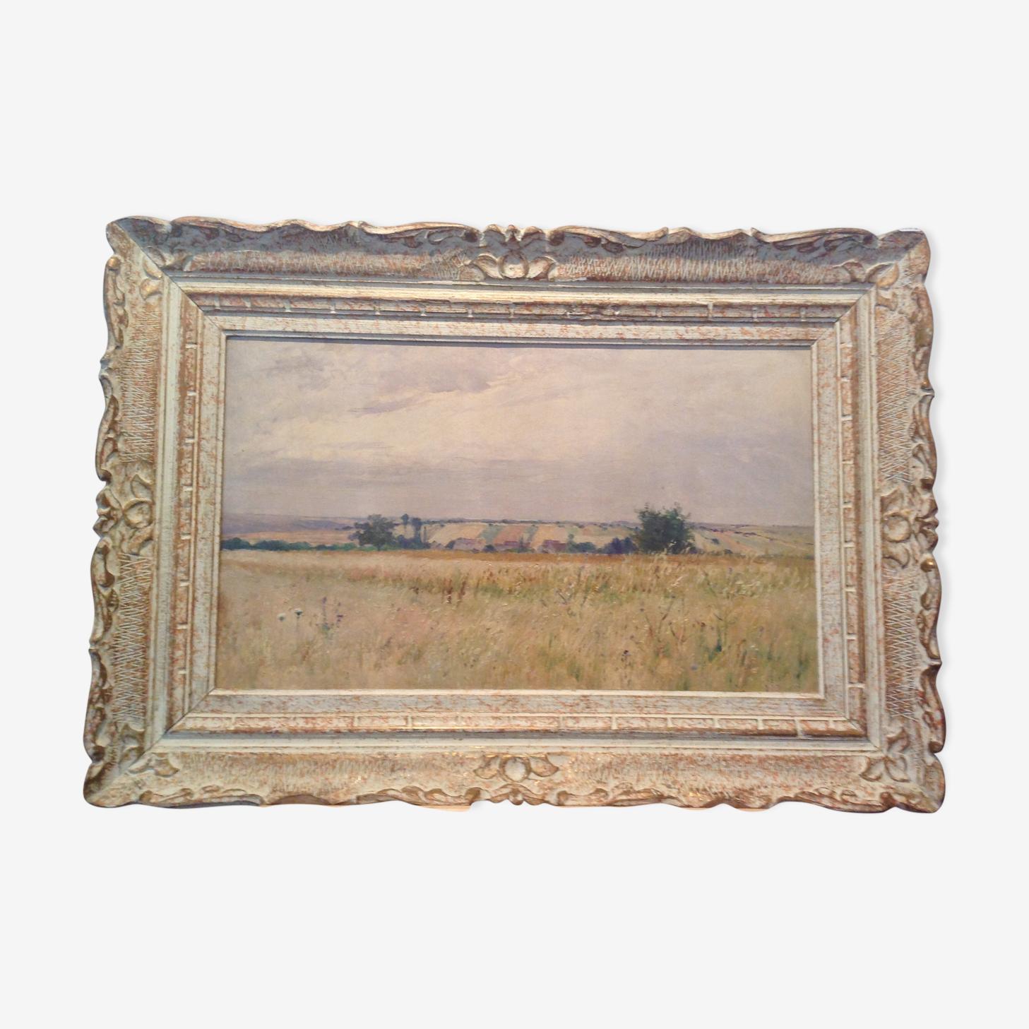 Tableau paysage champêtre des anneées 1930