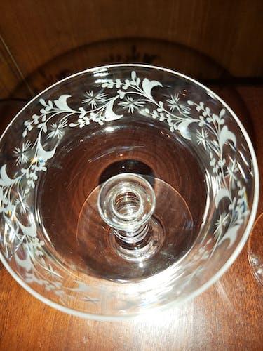 Set de 8 coupes à champagne en cristal XIX eme