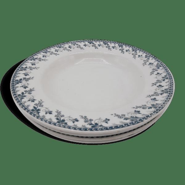 assiettes creuses en porcelaine opaque de gien terre de fer c ramique porcelaine fa ence. Black Bedroom Furniture Sets. Home Design Ideas