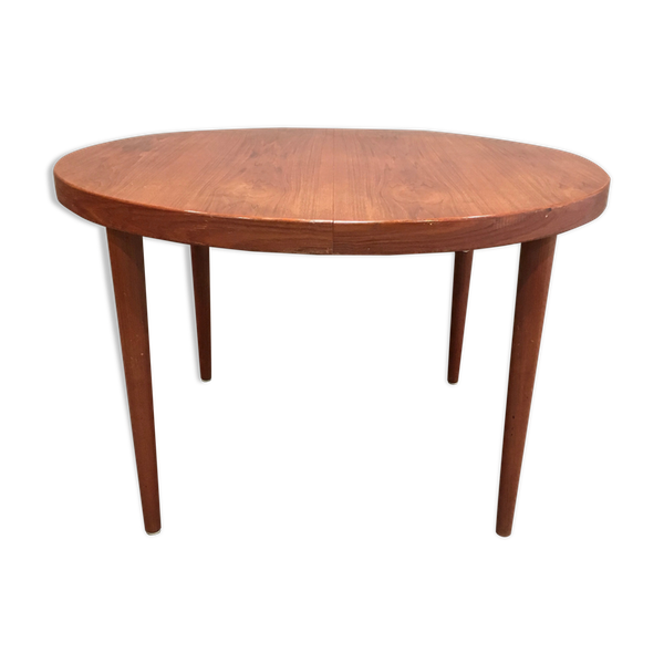 Table haute teck scandinave 1950