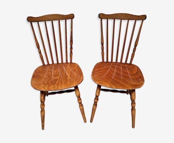 Paire de chaises bistrot vintage Baumann Menuet