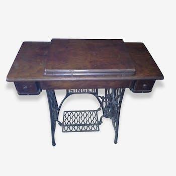 console meuble tv vintage ann es 70 pieds roulettes formica marron vintage 139748. Black Bedroom Furniture Sets. Home Design Ideas