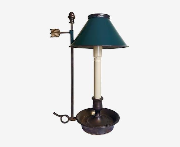 Lampe De Bureau Dite Bouillote De Style Empire Avec Abat Jour En Fer