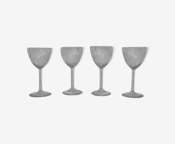 Set de 4 verres à porto