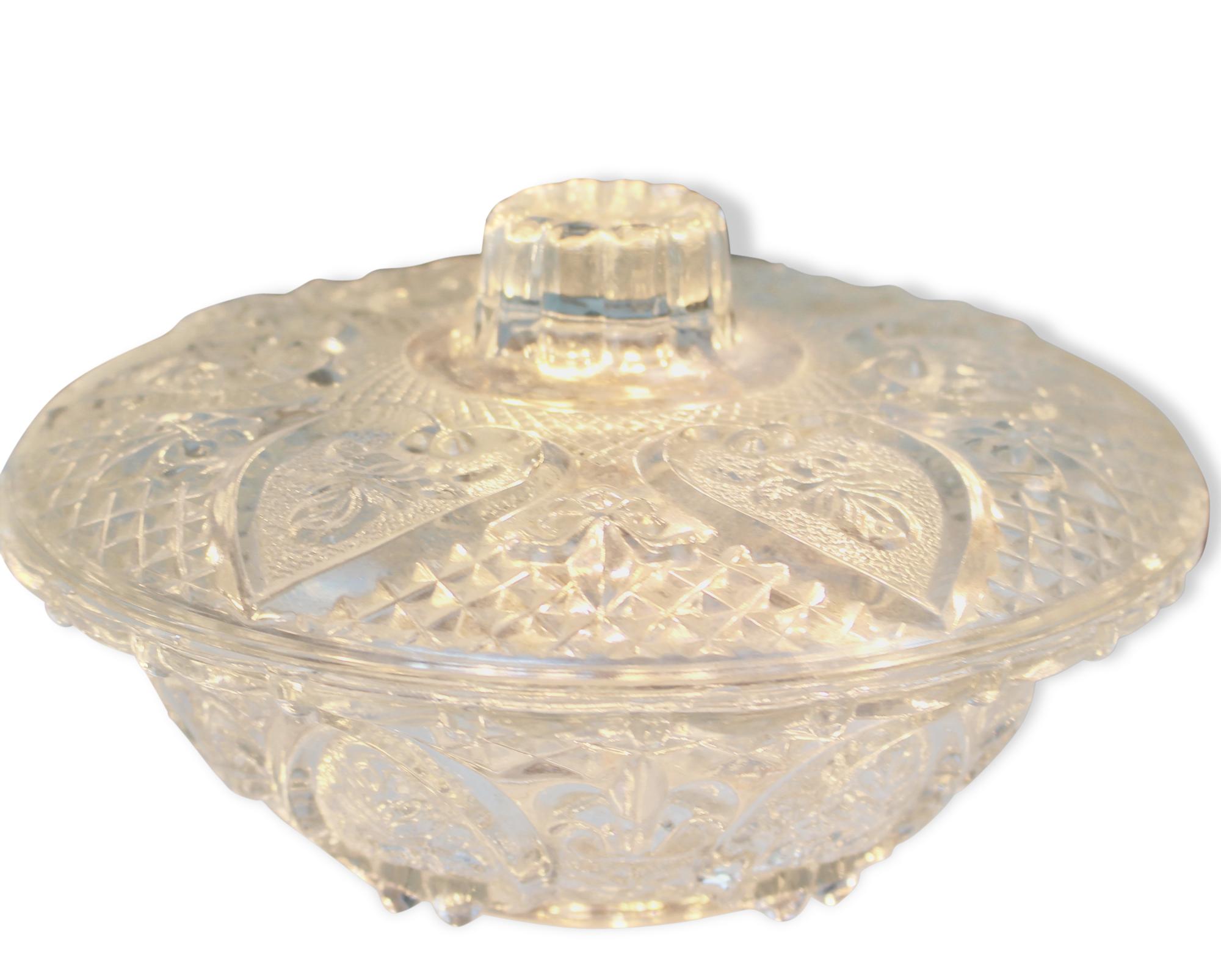 Bonbonnière en verre 1940