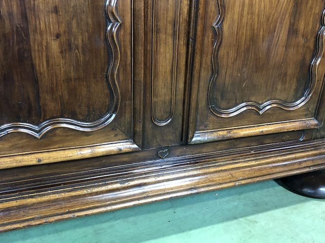 Library period XVIIIth cherry and oak