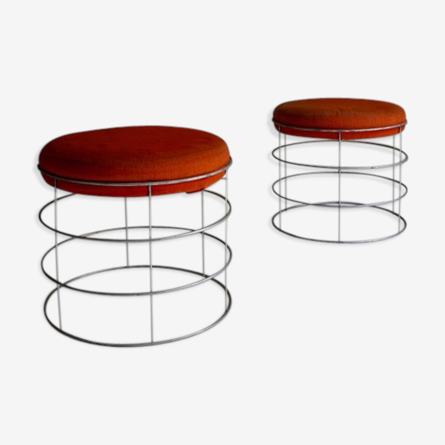 Pair of stools Verner Panton