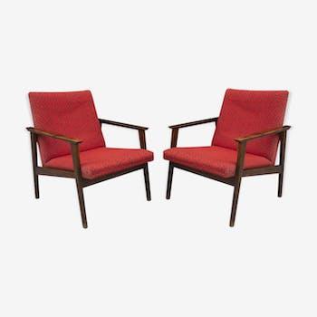 Pair of mid-century Danish style armchairs, 1960´s