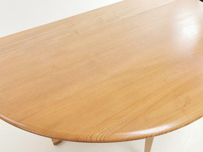 Table à manger Ercol du milieu du siècle en hêtre et en orme extensible